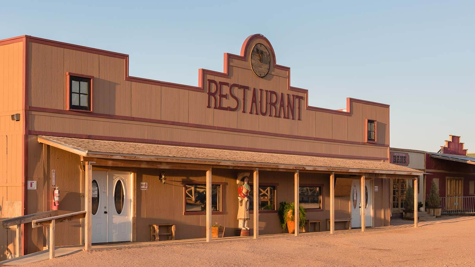 The main restaurant at Hualapai Ranch