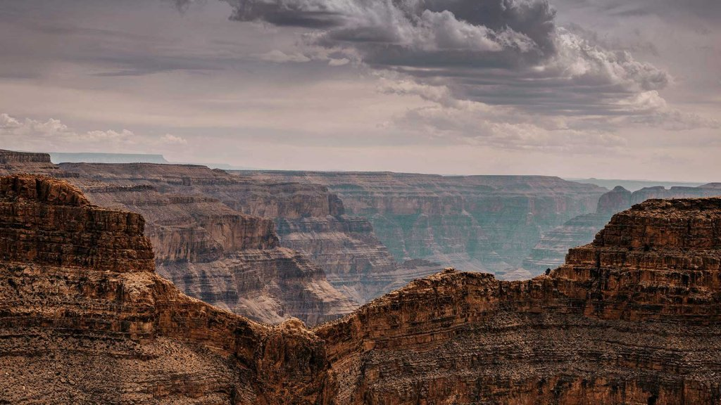 The view at Grand Canyon West Rim