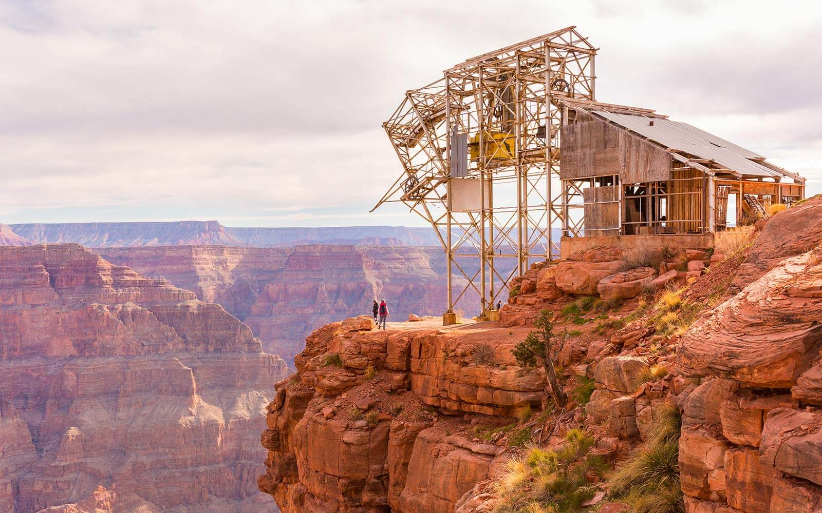 Guano Point overlooks the Colorado River at Grand Canyon West