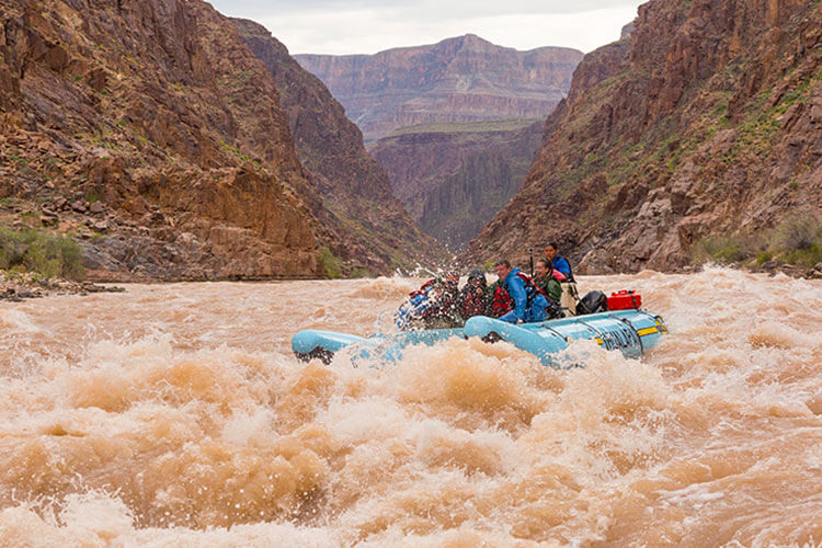 White water rapids in the Colorado River
