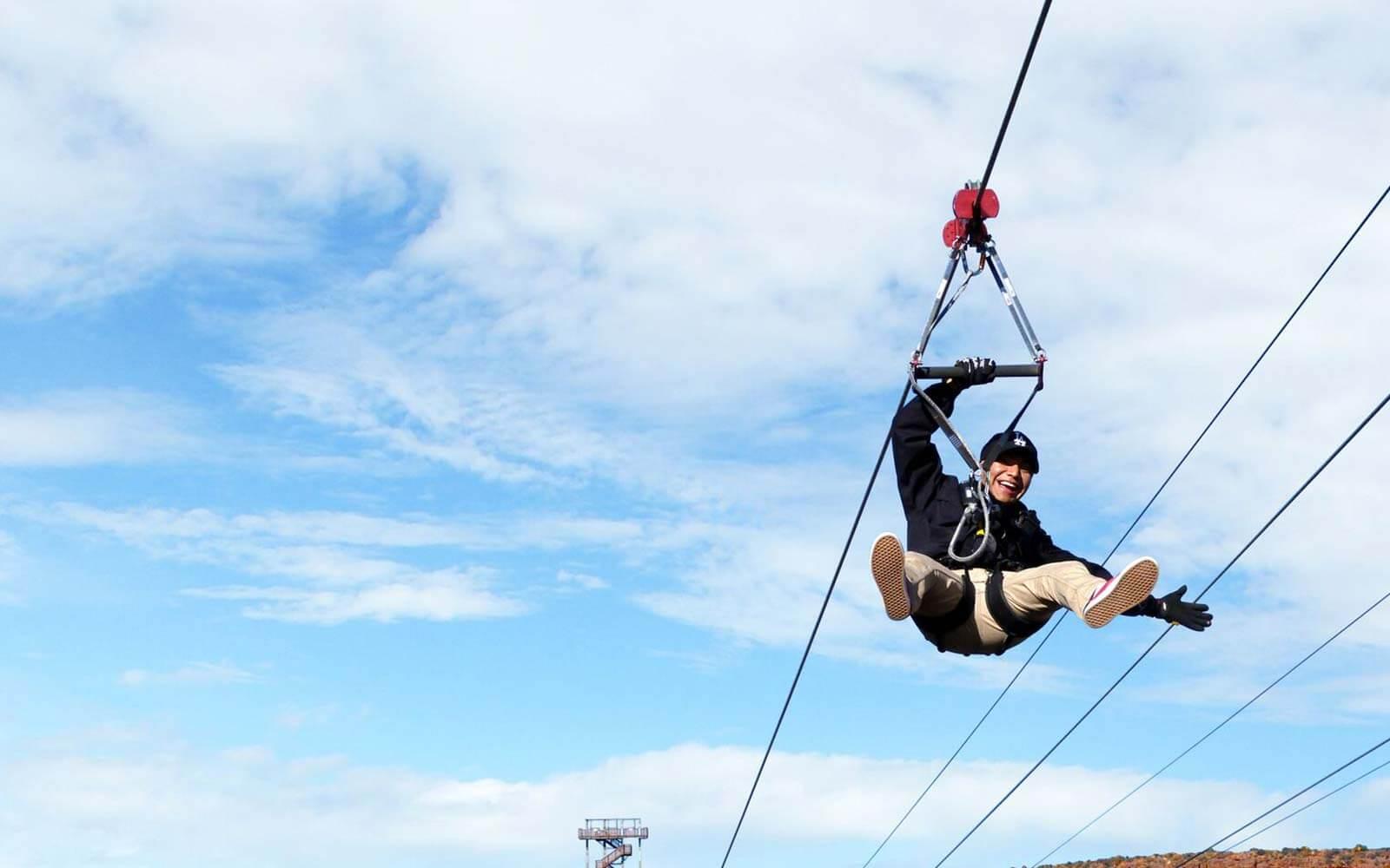 Ride the zipline at Hualapai Ranch at Grand Canyon West